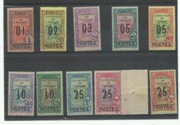 1925 Tunisie 110/ 119 ** Cote 104€, Point De Rouille Sur Le N° 119 - Tunisia (1888-1955)
