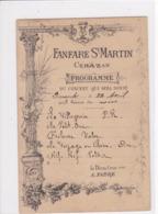 34 CEBAZAN Fanfare Saint Martin Programme Du Concert - Sonstige Gemeinden