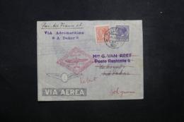 PAYS BAS - Enveloppe De Rotterdam Pour Dakar En 1937 Par 1er Vol France / A.O.F., Affranchissement Plaisant - L 42982 - 1891-1948 (Wilhelmine)