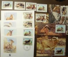 WWF Chad Tchad Tschad Barbary Sheep Goat Mähnenspringer Mouflons 1988 Maxi Card FDC MNH ** #cover 4937 - W.W.F.