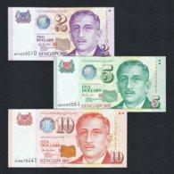 SET 1999 SINGAPORE 2 5 10 DOLLARS P-38 39 40 UNC> >GARDEN CITY SPORTS HU TSU TAU - Singapur