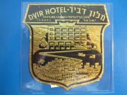 HOTEL MOTEL PENSION RESIDENCE DVIR MOUNT CARMEL HAIFA ISRAEL PALESTINE STICKER DECAL LUGGAGE LABEL ETIQUETTE AUFKLEBER - Hotel Labels