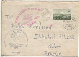 NORUEGA 1958 ALESUND SVALBARD IGY AÑO GEOFISICO INTERNACIONAL SWEDISH FINNISH SWISS EXPEDITION TO NORTH EAST LAND - Año Geofísico Internacional