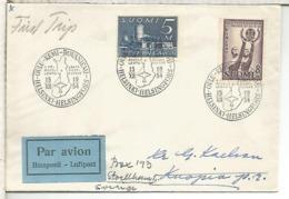 FINLANDIA PRIMER VUELO 1954 HELSINKI OULU KEMI ROVANIEMI - Finland