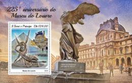 SAO TOME - 2018 - Louvre Museum - Perf Souv Sheet - M N H - São Tomé Und Príncipe