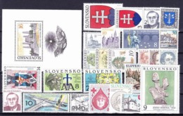 ** Slovaquie 1993 Mi 162-186, (MNH) L'année Complete - Slovakia
