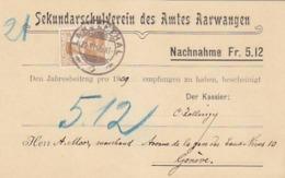 Nachnahme Sekundarschulverein Amt Aarwangen - 1909            (91002) - BE Berne