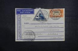INDES NÉERLANDAISES - Enveloppe De Batavia Pour Tiel Via Pelikaan En 1933 Par Avion, Affranchissement Plaisant - L 43000 - Niederländisch-Indien