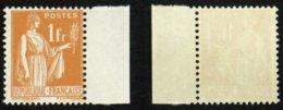 N° 286 1F Orange PAIX Neuf N** TB Cote 8€ - 1932-39 Peace