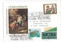 22403 - Christkindl 1983 Cover Pour Gröbenzell 09.12.1983+ Vignette - Noël