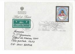22404 - Christkindl 1984 Cover Pour Berne 30.11.1984+ Vignette Et Austria Hotels Hotel De France - Weihnachten