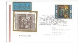 22406 - Christkindl 1984 Cover Pour Baden 24.12.1984 + Vignette - Noël