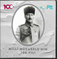 TURKEY, 2019, MNH, 100th ANNIVERSARY BIRTH OF THE REPUBLIC, KEMAL ATATURK, SHIPS, MILITARY, SOLDIERS, BOOKLET - Autres