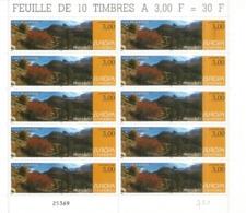 ANDORRA. Parc Naturel De Sorteny,espace Protégé,Haute Montagne Pyrénéenne,feuille Entière Europa 1999. - Europa-CEPT