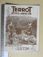 TERROT Notice D'entretien - Cyclomoteur 50 Cm - LUTIN - 2 Rue André Colomban - DIJON - Motor Bikes