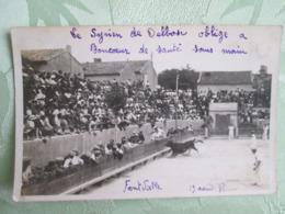 Fontvielle . Le Syrien De Delbose Oblige A Boncoeur De Sauter Sans Mains .1938 . Courses Camarguaises - France