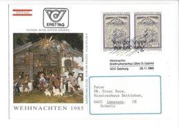 22411 - Christkindl 1985 Pour Immensee 29.11.1985 + Cachet Von Der Krippe Zur Erlosung - Noël