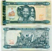 ERITREA 20 NAKFA 2012 P 12 UNC - Eritrea