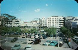 ! Moderne Ansichtskarte San Salvador, Plaza Gerardo Barrios, 1954, Autos, Cars - Salvador