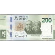 TWN - MEXICO NEW - 200 Pesos 30.1.2019 - 25th Ann. Of Autonomy Of Banco De México - Prefix AZ UNC - Mexico