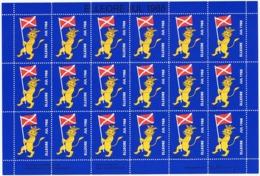 Denmark; Local Christmas Seals - Elleore, 1988, Full Sheet;  MNH **, Not Folded, - Full Sheets & Multiples