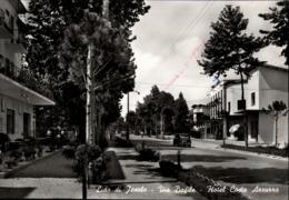 ! S/w Ansichtskarte Lido Di Jesolo, Via Bafile, Hotel Costa Azzurra, Italien, Italy - Italia