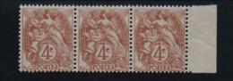 VARIETE  -  1900 / 24  -  Type  Blanc  N° 110 E ** ,  Point  Dans  Le  Cartouche  Tenant  à  Normal . - 1900-29 Blanc