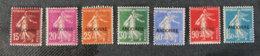 ANDORRE FRANCAIS - 1931 - YT 7 à 13 * - Type Semeuse Fond Plein - Unused Stamps
