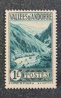 ANDORRE FRANCAIS - 1932 - YT 39 *-  Gorges De San Julia - Unused Stamps