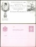 Nederland 1898 - Queen Wilhelmina I Jubilee Stationery Postcard, Inhuldiging Koningin Wilhelmina I. - Entiers Postaux