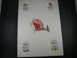 "BELG.1996 2649-2652 FDC Filatelic Card : "" 100 Jaar Autoraces In Spa / 100 Ans Courses Automobiles A Spa "" - FDC"