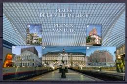"""2019  NA 41  Niet Aangenomen Ontwerp Van Myriam Voz """"Places De La Ville De Liège - Pleinen Van Luik"""" - Belgique"""