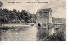 Commer : Le Moulin De La Roche Et L'écluse - Oblitération, Marcophilie De La Mayenne (CaD Double Cercle Perlé) - Altri Comuni