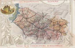 *** 80 ***  Chromo Avec Informations -éditions De La  CHOCOLATERIE D'AIGUEBELLE Les Départements Somme - TTB - Aiguebelle
