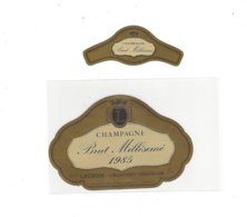 ETIQUETTE CHAMPAGNE LACROIX 1985 A MONTIGNY / CHATILLON  *****  A   SAISIR ***** - Champagne