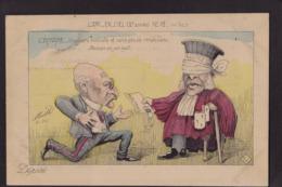 CPA Mille Satirique Caricature Non Circulé Dreyfus Justice Judaïca Judaïsme Tirage Limité - Mille