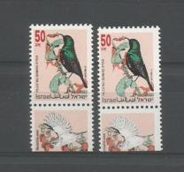 Israel 1993 Birds Y.T. 1202+1202a ** - Israel