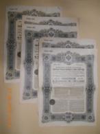 """OBLIGATION RUSSE - LOT De 5 """" EMPRUNT ETAT RUSSE 5% 1906 """"  - Série 113 - 213 - 223 - Russie"""