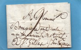 Triangle PARIS,L.A.C. Du 16/1/1812,taxe 9 Pour St GILLES Par NISMES. - Marcophilie (Lettres)