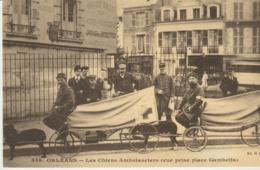 CP - ORLÉANS - LES CHIENS AMBULANCIERS - VUE PRISE PLACE GAMBETTA - REPRODUCTIONS - 1311 - CECODI - 1986 - Orleans