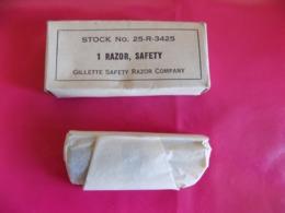 Rasoir U.S. De Marque Gillette Dans Sa Boite 'd'origine. - 1939-45