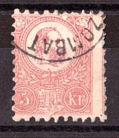 Hongrie - 1871 - N° 3 - Piquage Légèrement Décalé - François-Joseph 1er - Hongrie