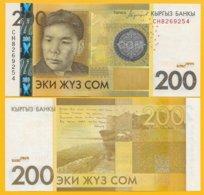 Kyrgyzstan 200 Som P-27b 2016 UNC Banknote - Kirgisistan