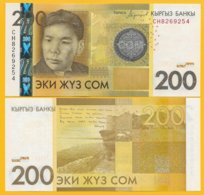 Kyrgyzstan 200 Som P-27b 2016 UNC Banknote - Kirghizistan