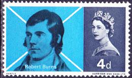 Großbritannien Great Britain Grande-Bretagne - Robert Burns (MiNr: 408x) 1966 - Postfrisch MNH - 1952-.... (Elizabeth II)