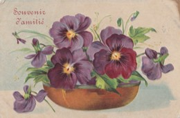 AR69 Greetings - Souvenir D'amitie - Embossed Flowers - Holidays & Celebrations