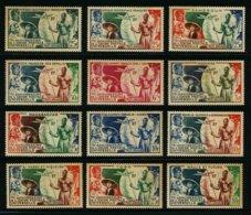COLONIES FRANCAISES - GRANDE SERIE COLONIALE UPU 1949 - SERIE COMPLETE 12 TIMBRES NEUFS - 1949 75e Anniversaire De L'UPU