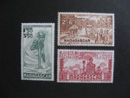 MADAGASCAR: TB Série  PA N° 41 Au PA N° 43, Neufs X. - Posta Aerea