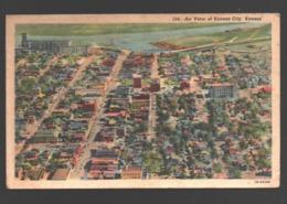 Kansas - Air View Of Kansas City - 1952 - Linen - Kansas City – Kansas