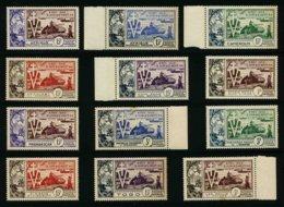 COLONIES FRANCAISES - GRANDE SERIE COLONIALE LIBERATION 1954 - SERIE COMPLETE 12 TIMBRES NEUFS - 1954 10e Anniversaire De La Libération
